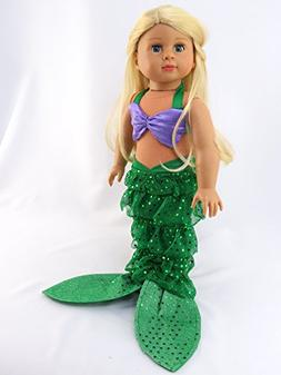 Mermaid Halloween Outfit Shell Bikini Top and Sequin Mermaid