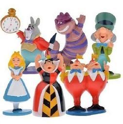 MINI Alice in Wonderland Playset 6 Figure Cake Topper * USA