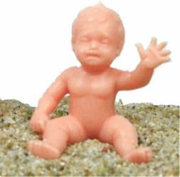 Mini Babies - 3 Poses - Plastic Dolls - Italy - Sets of 12,