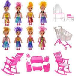 Mini Barbies Dolls Girls Dollhouses Accessories Toy Gift Dol