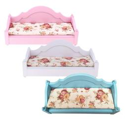 Mini Dollhouse Furniture Sofa Miniature Bed Couch for 12inch