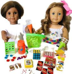"Mini Game Night for American Girl Doll Accessories Fit 18"" D"