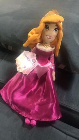 Disney Store MINI PRINCESS AURORA SLEEPING BEAUTY PLUSH BEAN