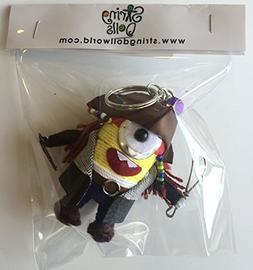 Minion Jack Sparrow Puppet Doll Keyring Keychain Key Ring Ch