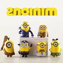 Minions Figures Despicable Me 2 Movie 6x Mini Action Set 2.5