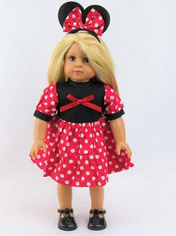 Minnie Mouse Outfit 18 Inch Dolls  by American Fashion World