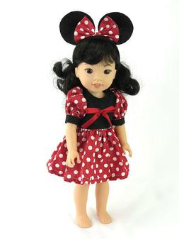 Minnie Mouse Outfitfor 14.5  Inch Dolls  by American Fashion
