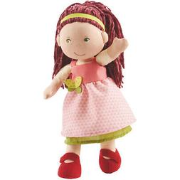 "HABA Mona 12"" Soft Doll with Auburn Hair, Green Eyes and Emb"