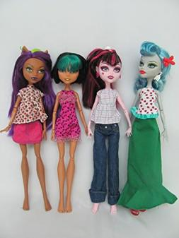 Monster High Doll Clothes : 4 Sets Fit Monster High Dolls