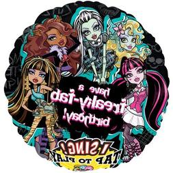 "Monster High Freaky Fab Birthday Sing-A-Tune 28"" Mylar Foil"