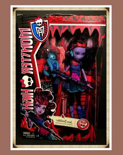 Monster High Doll JANE BOOLITTLE Basic Original w/ Pet Sloth