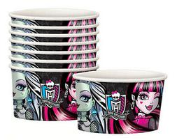 MONSTER HIGH DOLLS Birthday Party Supplies TREAT CUPS 8pcs f