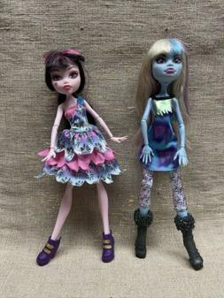 Monster High Dolls, Lot of 2, Abbey Bominable Draculaura
