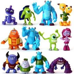 Monsters Inc Sulley Mike Disney Playset 12 Figure Cake Toppe