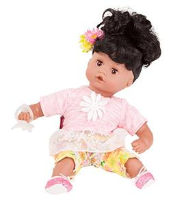 """Gotz Muffin 13"""" African American Baby Girl Doll with Washabl"""