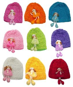 Bella Multi Pack Baby Stretchy Knitted Bonnets Hats Doll Orn