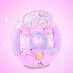 Mandy Musical Sound and Light Toys Steering Wheel Shape Kids