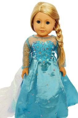 My Brittany's Elsa Gown for American Girl Dolls- 18 Inch Dol