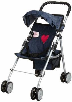 my first doll stroller denim for baby