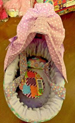 Distroller Neonate Nerlie Doll Small Pink & Purple Bassinet