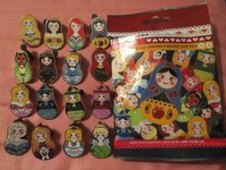 Disney Nesting Dolls Full Set of 16 Pins Mary Poppins Aurora
