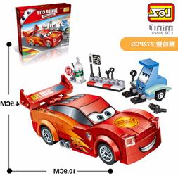 New 1616 Lightning McQueen LOZ Diamond Blocks Mini Building