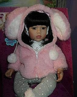"NEW ADORA 20"" TODDLER TIME ASIAN DOLL COTTONTAIL"