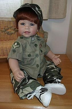 new 20 weighted toddler boy doll in