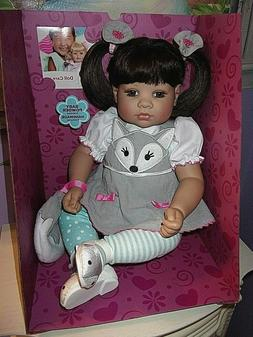 """NEW ADORA  20"""" WEIGHTED TODDLER TIME DOLL SILVER FOX"""