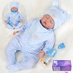 "New 22"" Realistic Reborn Baby Dolls Soft Silicone Vinyl Newb"