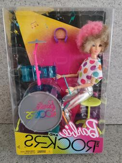 NEW Barbie and the Rockers Doll and Drum Set