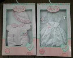 """NEW Corolle Clothes Wedding Dress Veil Romper Hat 8"""" Doll Re"""