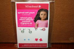 New American Girl Doll Pretty Pets Earrings 2 Pairs Pierced~