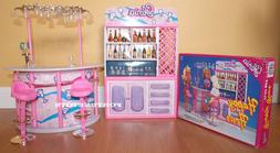 NEW GLORIA DOLLHOUSE FURNITURE HAPPY HOUR Bar+Stools PLAYSET