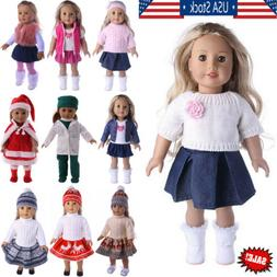 New Handmade Doll Clothes Dress Accessories Lot For 18 inch