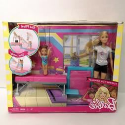 NEW IN BOX Barbie Flippin Fun Gymnastics Barbie Dolls Play S