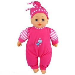 """NEW MY 1ST BABY DOLL 12"""" SPEAKING & CRYING EYES CLOSIN BATTE"""