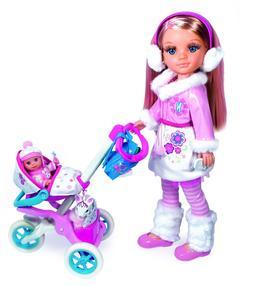 NEW Famosa Nancy walking Sister in Stroller 2 dolls RARE HTF