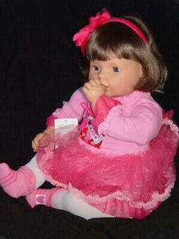 New ~ OOAK Harper ~ Big 28 Inch Toddler Doll ~ Brunette ~ Wi