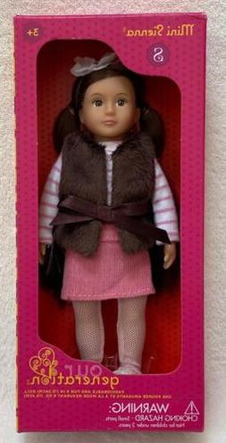 """NEW! Our Generation Battat 6"""" Doll Mini SIENNA - Dark Brown"""