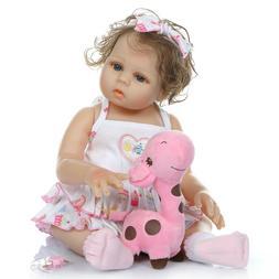 Newborn Dolls 18 inch Real Life Reborn Baby Dolls Bathable P