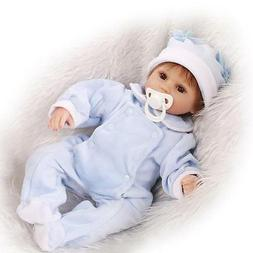 """Newborn Silicone Baby Dolls Cheap 17"""" Realistic Live Baby Do"""