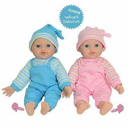 "The New York Doll Collection 12"" Twin Baby Doll Girls Made o"