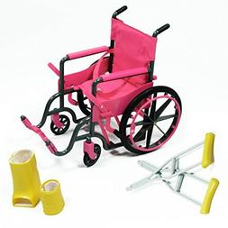 The New York Doll Collection Doll Wheelchair Set with Acces