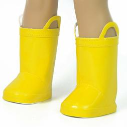 The New York Doll Collection Yellow Rain Boots for 18 Inch D