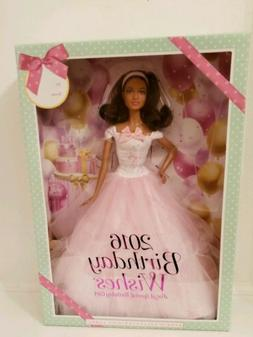 NIB Barbie 2016 Birthday Wishes Barbie Doll Dark Brunette fr