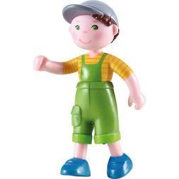 "HABA Little Friends Nils - 4"" Bendy Boy Doll Figure with Cap"