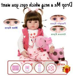 NPK Reborn Baby Doll Realistic Baby Dolls 22'' Vinyl Silicon