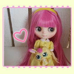 Nude Factory Middie Type Blythe Doll - Raspberry Pink Hair -