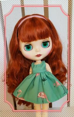 Nude Factory Type Neo Blythe Doll Orange Red Hair - Jointed